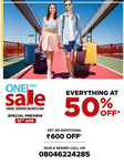 Central  - Everything  at  50% OFF + Extra Rs.500 off  on Luggage, Backpacks & Duffles